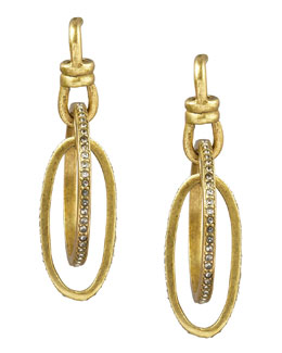 Paige Novick Pave Oval Hoop Earrings