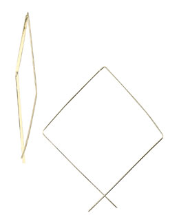 Lana Upside-Down Hoop Earrings, Medium