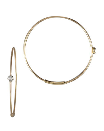 Small Magic Diamond Hoops, Yellow Gold