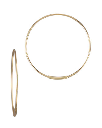 Small Magic Hoops, Yellow Gold