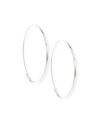 Flat Magic Hoops. White Gold