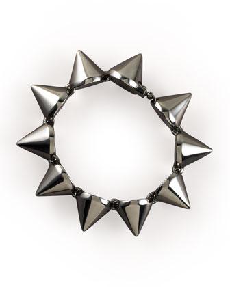 Large Gunmetal Cone Bracelet