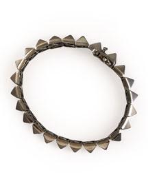 Pyramid Bracelet, Gunmetal