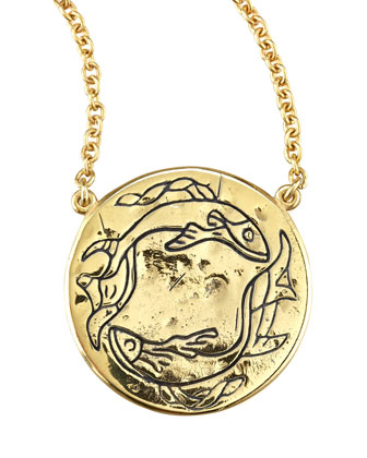 Astrology Necklace, Pisces