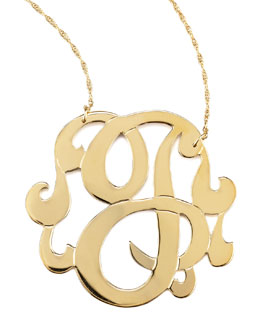 Jennifer Zeuner Swirly Initial Necklace, J