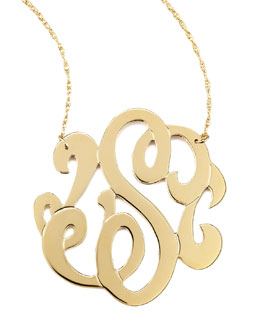 Jennifer Zeuner Swirly Initial Necklace, S