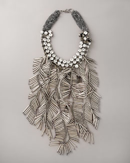 Vera Wang Beaded Fringe Necklace