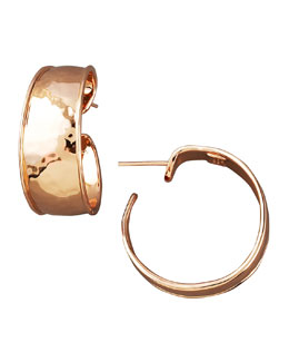 Ippolita Goddess Hoop Earrings, Rose Gold