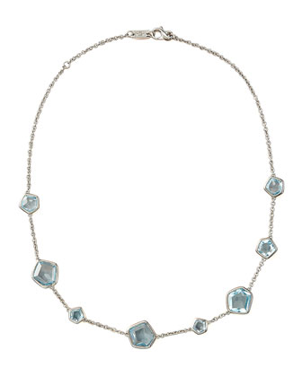 Blue Topaz-Station Necklace