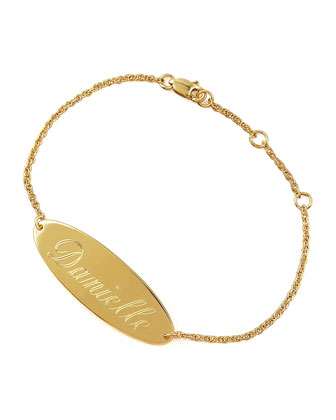 Personalized Gold Bracelet