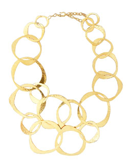 Herve Van Der Straeten Circle-Link Bib Necklace