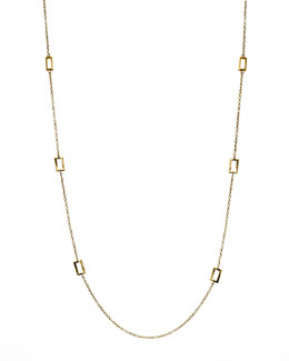 "Ippolita Gold Rectangle-Station Necklace, 40""L"