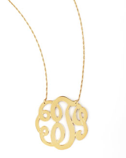 Jennifer Zeuner Swirly Initial Necklace, T