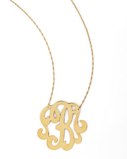 Jennifer Zeuner Swirly Initial Necklace, B