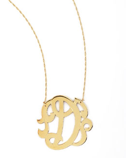 Jennifer Zeuner Swirly Initial Necklace, D
