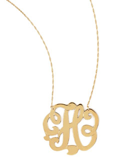 Jennifer Zeuner Swirly Initial Necklace, H