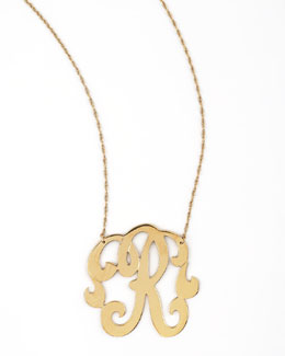 Jennifer Zeuner Swirly Initial Necklace, R