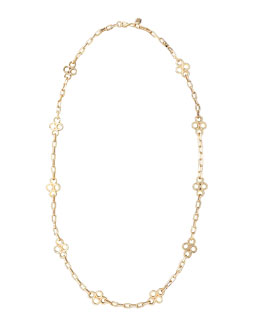 Tory Burch Clover-Station Necklace, Gold