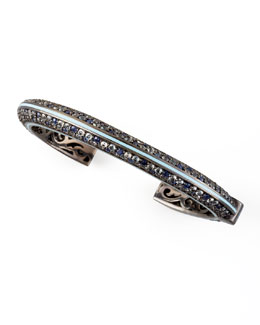 MCL by Matthew Campbell Laurenza Enamel-Striped Sapphire Cuff, Blue
