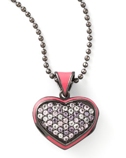 MCL by Matthew Campbell Laurenza Pave Heart Pendant Necklace