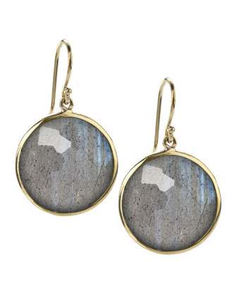 Lollipop Earrings, Labradorite