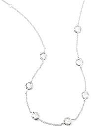 Quartz Station Necklace, 18