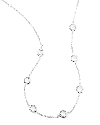Quartz Station Necklace, 18