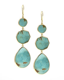 Turquoise Gelato Crazy-Eight Earrings