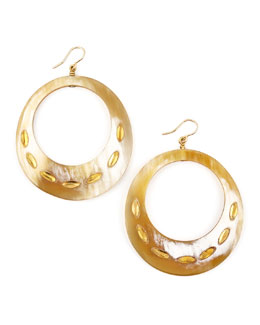 Ashley Pittman Zamu Light Horn Earrings