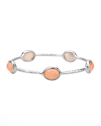 Wonderland Five-Station Bangle, Blush