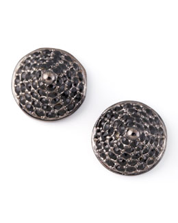 Eddie Borgo Pave Crystal Cone-Stud Earrings, Gunmetal