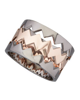 Eddie Borgo Bear-Trap Bangle Set, Rose/Gunmetal