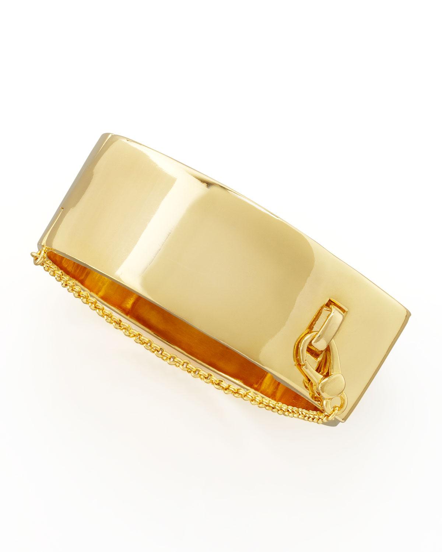 Eddie Borgo Safety Chain Cuff, Yellow Golden, GOLD