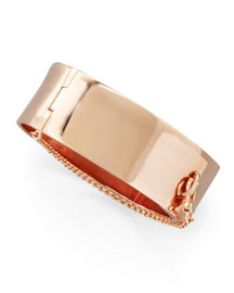 Safety Chain Cuff, Rose Golden