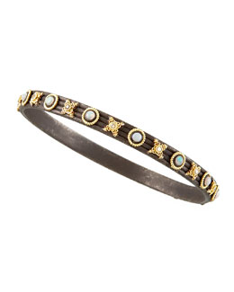 "Armenta Midnight Bangle, 1/4""W"