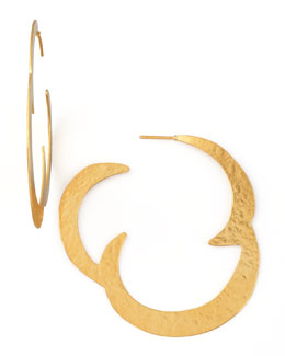 Herve Van Der Straeten Virgules Hoop Earrings