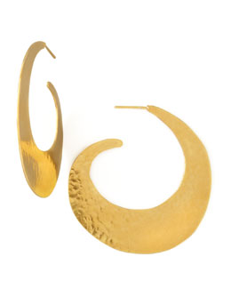 Herve Van Der Straeten Virgules Swirl Earrings