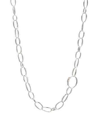 Delicate Silver Chain Necklace, 36