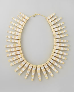 Eddie Borgo BG 111th Anniversary Pave Step Collar Necklace
