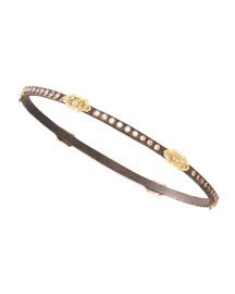 Oxidized Diamond Bracelet