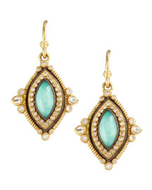 Green Turquoise Drop Earrings