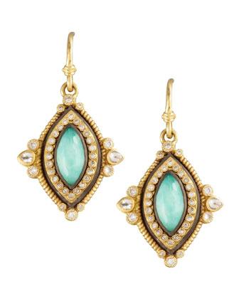 Green Turquoise Drop Earrings