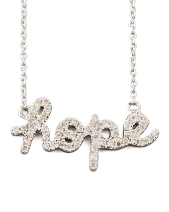 Diamond Hope Necklace, White Gold