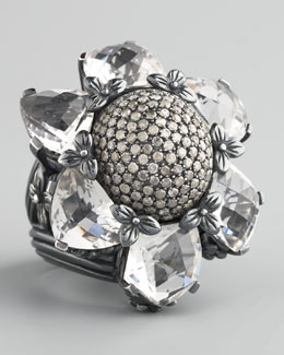 Stephen Dweck BG 111th Anniversary Pave Flower Ring