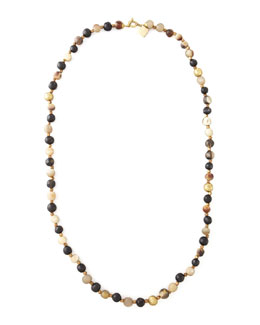"Ashley Pittman Haba Horn Bead Necklace, 38""L"