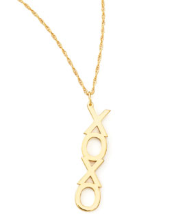 Jennifer Zeuner Vertical XO Necklace