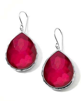 Raspberry Doublet Drop Earrings