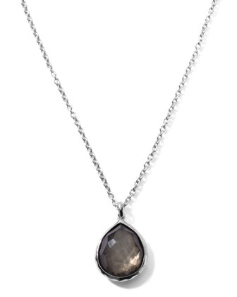Pyrite Teardrop Pendant Necklace