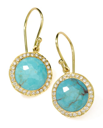 Diamond & Turquoise Lollipop Earrings