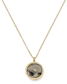 Ippolita Diamond & Pyrite Lollipop Pendant Necklace